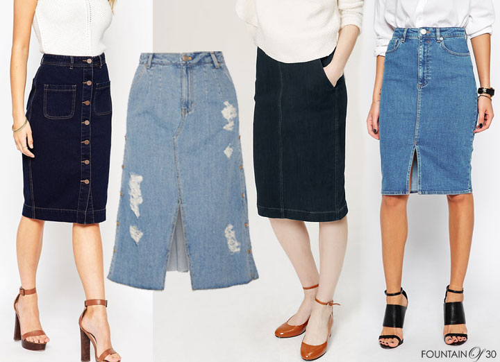 Must-Have Trend For Spring: The Denim Pencil Skirt
