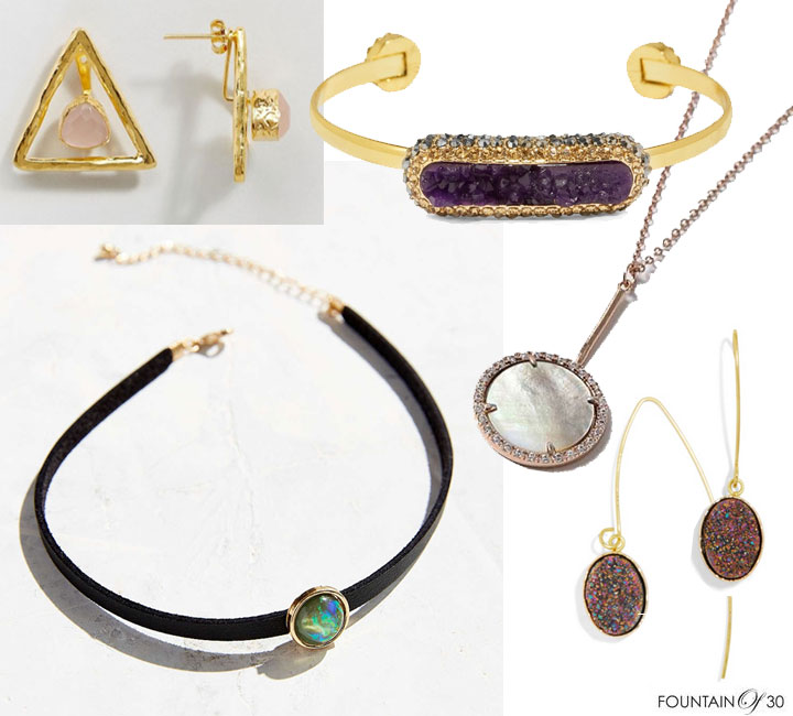 Looks for Less: Druzy and Quartz Autumn Baubles