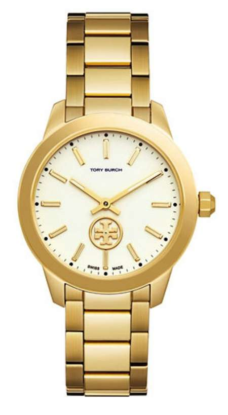 gold tory burch watch