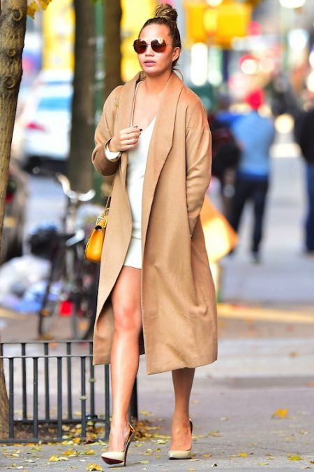 Celebrity Style Steal: Chrissy Teigen In Summer White & Neutral