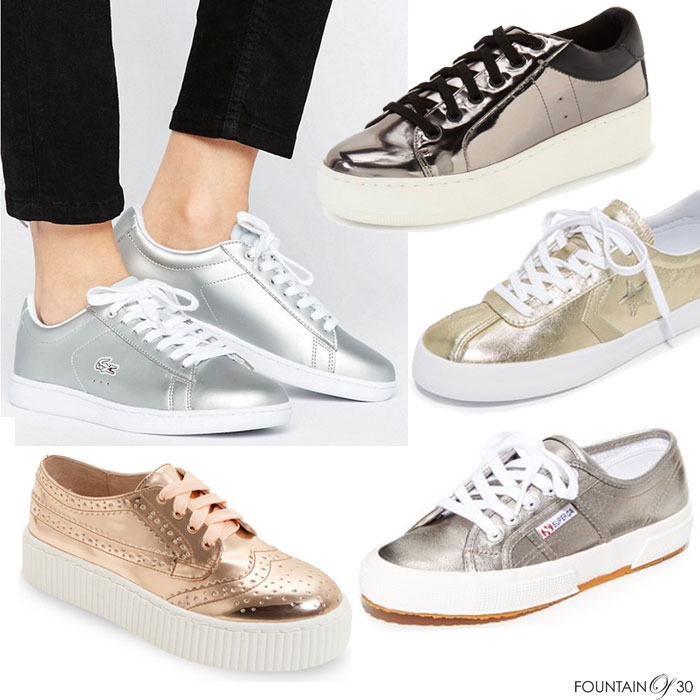 c28ae478b29 Must-Have Shoe Trend  Metallic Sneakers - fountainof30.com