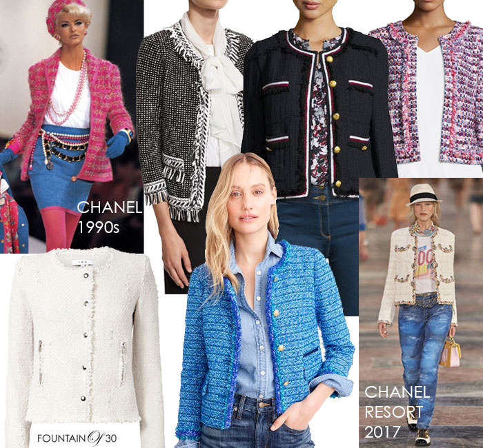 Famous Fashion Through The Ages: Chanel Inspired Tweed Jackets with Denim  FJ08