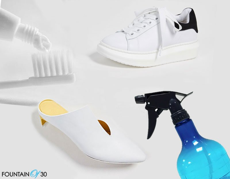 Clean White Leather Shoes And Sneakers